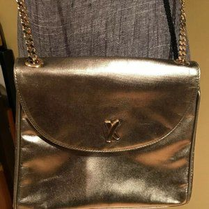 Paloma Picasso Pewter Gold Gray Metallic Crossbody
